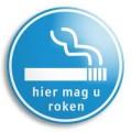 hier mag u roken